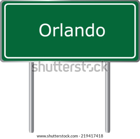 orlando  florida  road sign