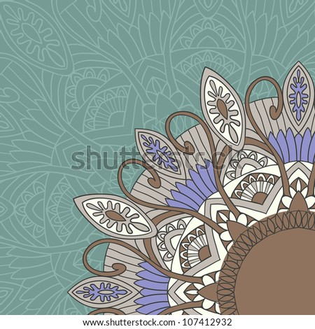 Ornament background in ethnic style. Vector illustration