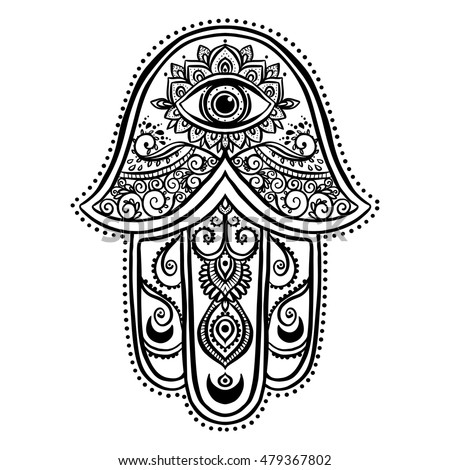 ornament card with hamsa