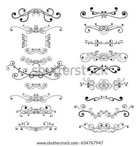 Ornament decorations. Divider elements. Vector illustration isolated on white background