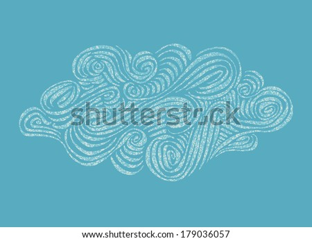 ornament hand drawn cloud