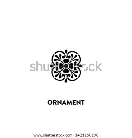ornament icon vector. ornament sign on white background. ornament icon for web and app