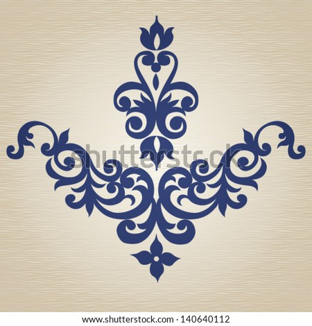 Ornament in Victorian style Element for design It can be used for decorating of invitations cards decoration for bags clothes and at tattoo creation