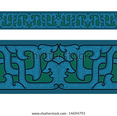 Ornament of ancient China. Seamless pattern.