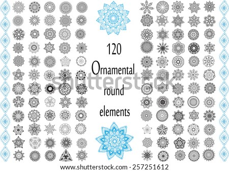 ornament round set with mandala