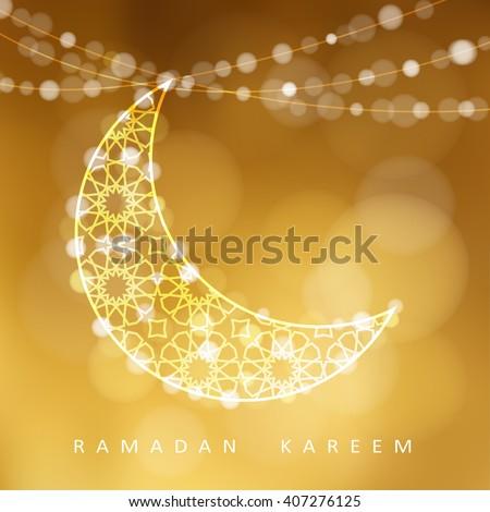 ornamental arabic moon golden