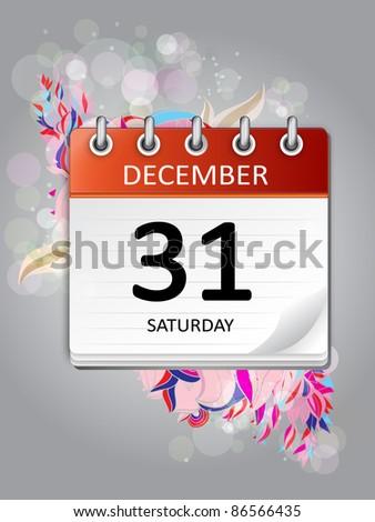 ornamental calendar  december 31