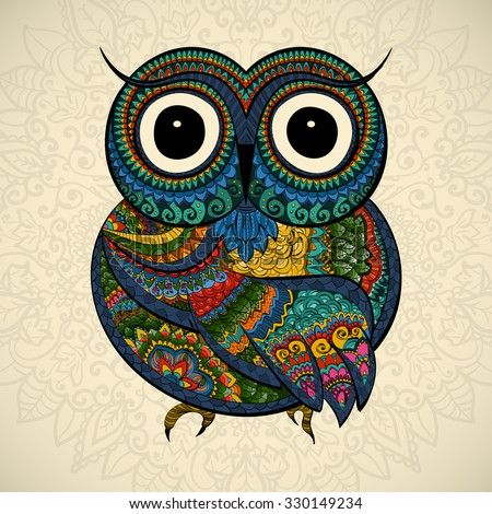 ornamental color owl with