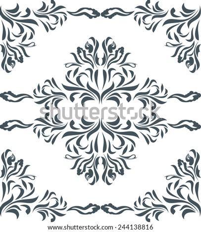 stock-vector-ornamental-dark-green-eleme