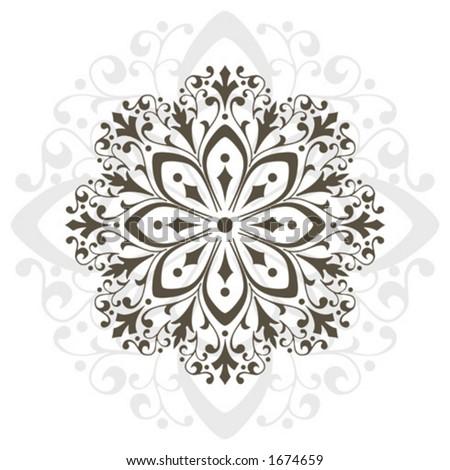 Ornamental design, digital artwork - stock vector