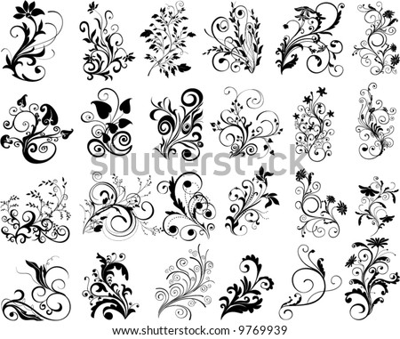 ornamental design elements - vector - stock vector