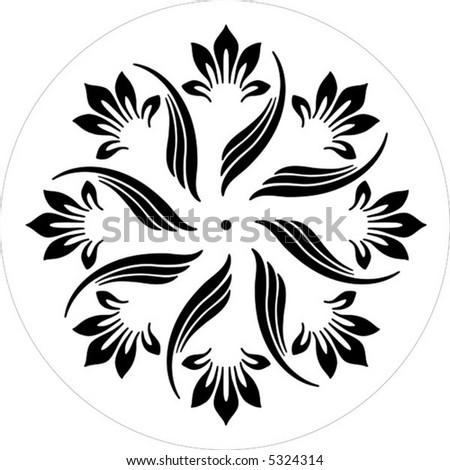 ornamental elements black and white