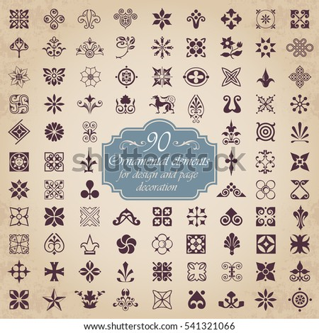 Ornamental elements for design and page decoration