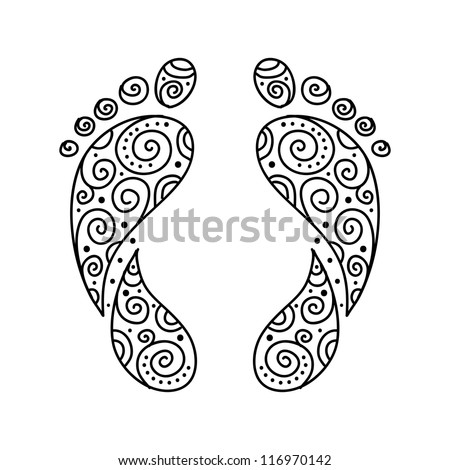 Ornamental footprint for your design