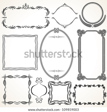 Ornamental Frames. Vector Design Elements - stock vector
