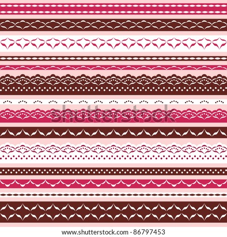 Ornamental lace collection. Vector illustration.