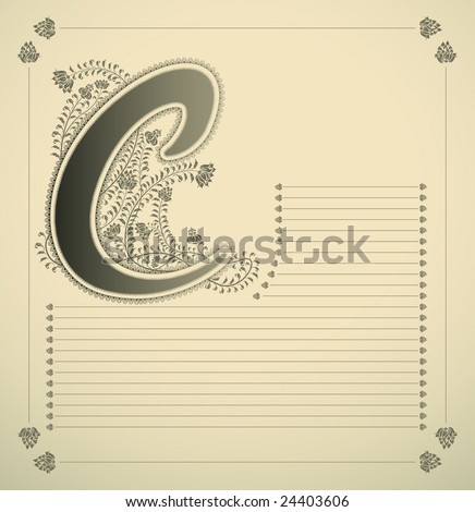 Fancy Letter f Font Fancy Letter c f