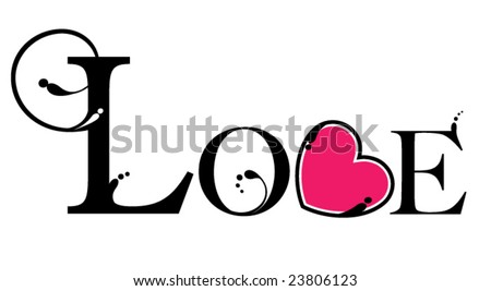 Ornamental 'LOVE' Illustration - stock vector