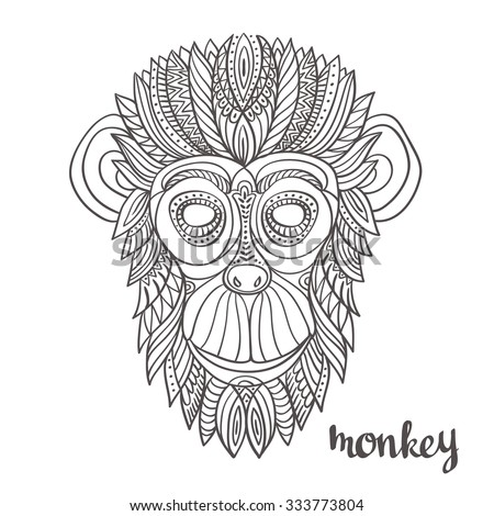 Royalty free hand drawn french bulldog with 303271280 for Year of the monkey tattoo