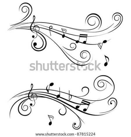 ornamental music notes with