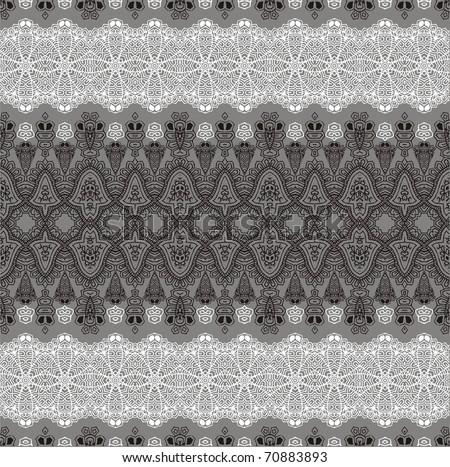 Ornamental pattern lacy flower.
