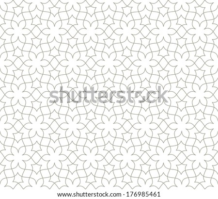 Ornamental pattern. Traditional Arabic seamless ornament.
