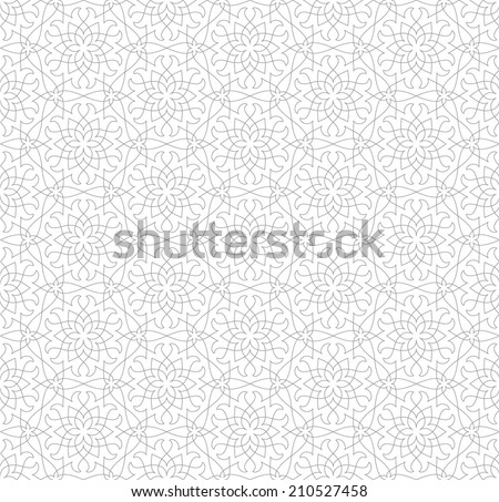 Ornamental pattern Traditional Arabic seamless ornament