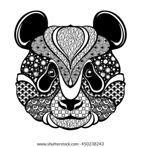 ornamental patterned head of