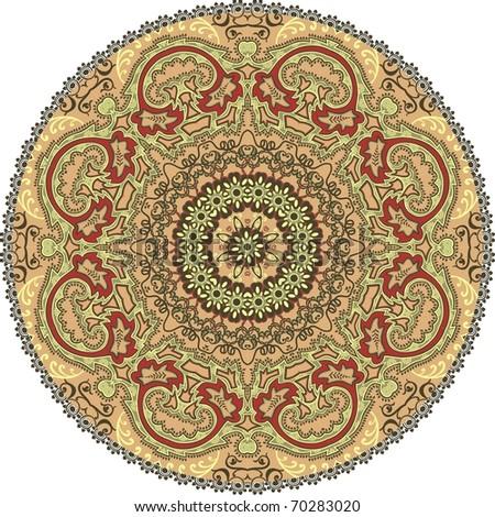 Ornamental round flower