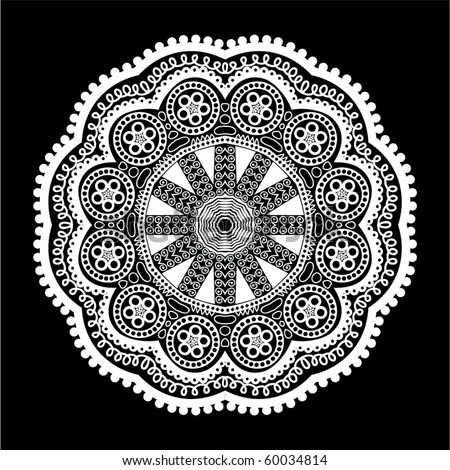 Ornamental round lace, flower