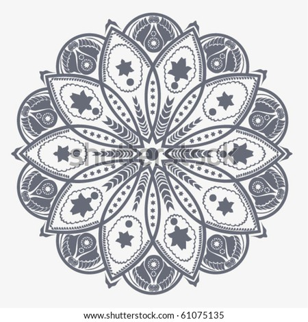 Ornamental round lace flower