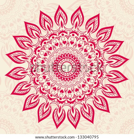 Ornamental round pattern - stock vector