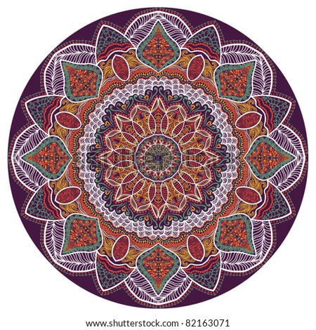ornamental round pattern, many details lace pattern