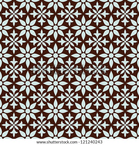 Ornamental seamless pattern. Vector floral background.
