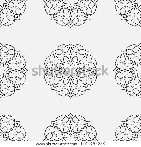 Ornamental seamless retro pattern. Vector abstract background. #1101984266
