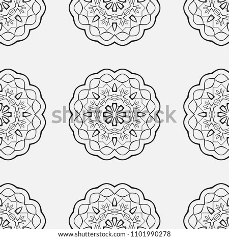 Ornamental seamless retro pattern. Vector abstract background. #1101990278