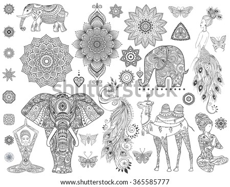 ornamental set with animal