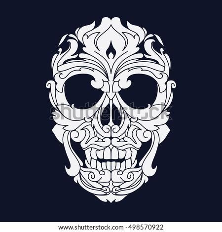 ornamental skull head tribal
