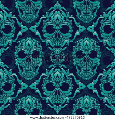ornamental skull seamless