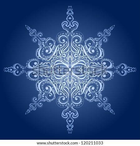 Ornamental snowflake, lace pattern