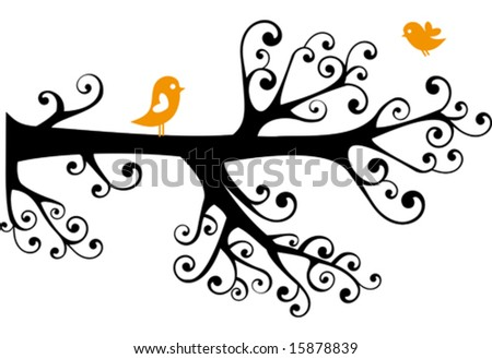 clip art tree branches. stock vector : ornamental tree