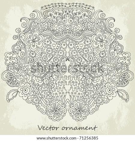 Ornamental vector background