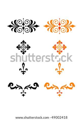 ornaments - stock vector