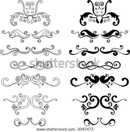Ornaments 3 Vector Illustration - stock vector