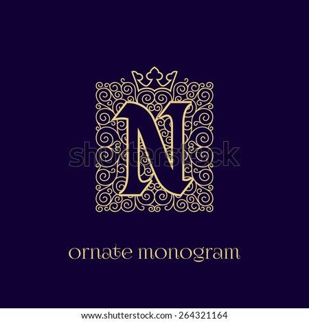ornate and elegant monogram