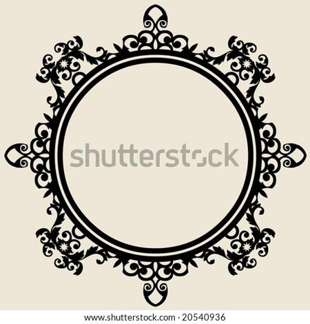 ornate baroque frame - stock vector