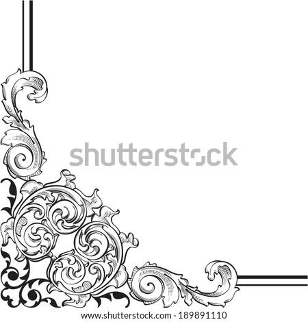 Ornate corner is on white