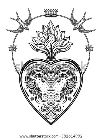 ornate decorative heart with...