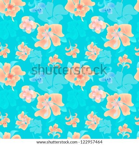 Ornate floral endless pattern. Seamless pattern can be used for wallpaper, pattern fills, web page background, surface textures.