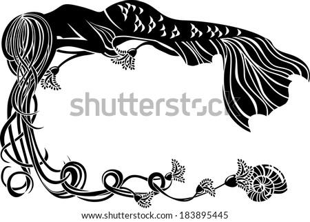 ornate frame  sleeping mermaid